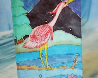 Blank Greeting Card with Original Batik Artwork Print