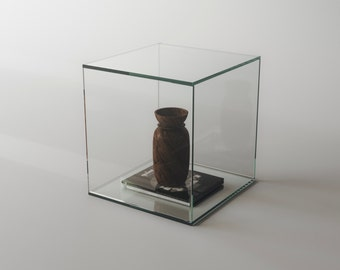 Modern Glass Side Table. Glass Table Perfect As A Piece Of Contemporary Or  Modern Home