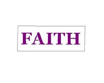 Faith Word Stencil Plastic Reusable Template 648
