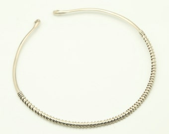 German silver choker with a simple design, but very elegant and original