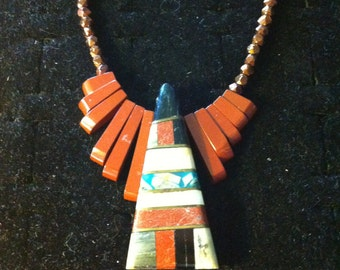 Enamel & Rock necklace