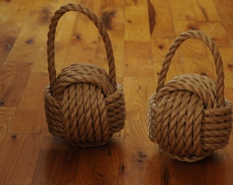 Nautical Decor - Monkey Fist Doorstop - Outdoor Rope - Pro Manila - Mildew Resistant - (this listing is for 1 knot)