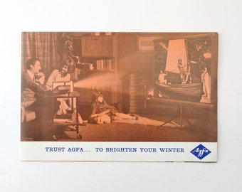 Vintage Trust Agfa To Brighten Your Winter Pull Out Pamphlet