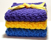 Best Selling Dishcloth Sets//Blue, Yellow, Purple//Kitchen Dishcloths