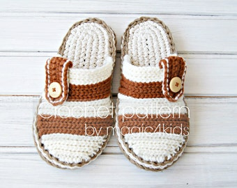 Crochet pattern- men clogs with rope soles,soles pattern included,all men sizes,loafers,slippers,scuffs,adult,teen boys,cord,twine,stripped