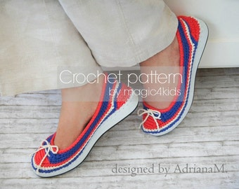 Crochet pattern: women shoes on rubber soles ,espadrilles,all women sizes,girls,outdoor,adult,shoemaking,spring,summer,footwear,loafer,teen