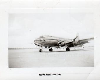 Vintage snapshot Photo ~  1946 Airplane