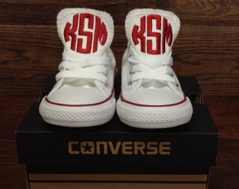 Monogrammed Baby Converse, Personalized baby shoes, Personalized baby gift