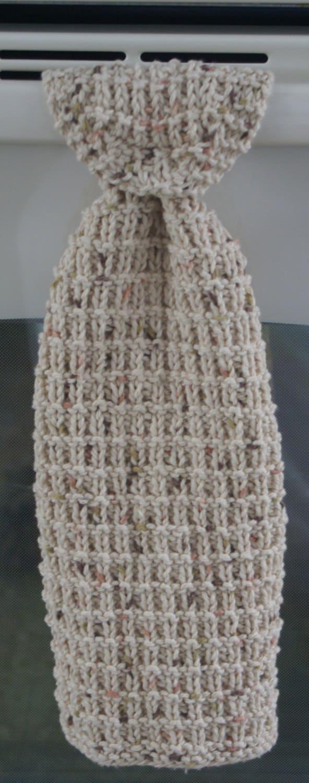 Hand Knit Hanging Kitchen Towel Pattern