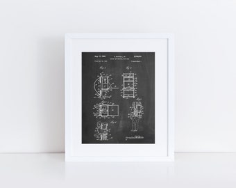 Framed Hiking Pack Patent Poster, Hiking Art, Mountain Home Decor, Outdoorsman, Camping Wall Art, Outdoorsy, PP0632