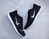 NIKE Free 5.0 Running shoes w/Swarovski Crystals  - Black/White