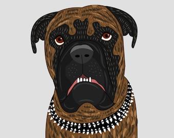Custom pet portrait. Bespoke quirky portrait. Custom illustration. Custom Portraits.