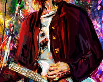 Kurt Cobain Art, Nirvana Original, Cobain Painting Art Print