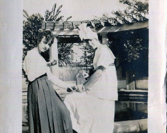 Vintage Photo..American Girls 1910's, Original Photo, Old Photo Snapshot, Vernacular Photography, American Social History Photo