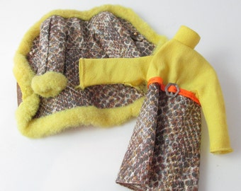 Francie Snake Charmers #1245 Doll Fashion Coat Dress Faux Snakeskin Mod (Condition Issues)