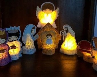 Tealight Nativity Set (flameless)