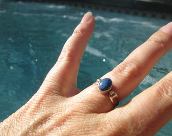 Lapis and Sterling Ring Size 6