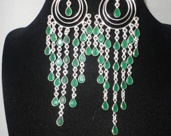 Stunning 90 Carats Of Emerald Chandelier Earrings*******.
