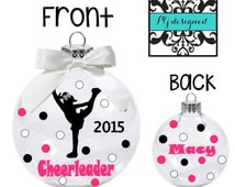 Cheerleading Christmas  Ornament/ Personalized Ornament for Cheerleader