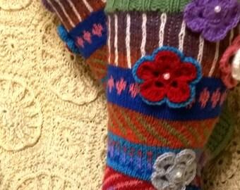 Hand knitted socks or gaiters/Hand knit socks/ Knitted Wool Socks/socks for home/Winter accessories socks/hand knit knee socks