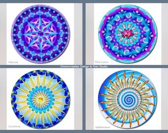 Mousepad mandala design - choose your favorite design: Planula - Pink Lotus - Sunshine - Waterwave