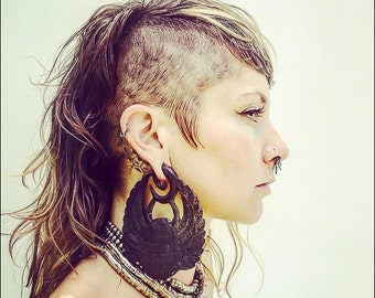 00 Gauges 00g Scarab Earrings Ear Weights Vedora Tribal Earrings Egyptian Earrings Egyptian Jewelry Tribal Jewelry Tribal Hoops Dangle Plugs