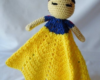 Princess Snow White Inspired Lovey/Security Blanket