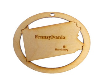 Pennsylvania Ornament - Pennsylvania Personalized Gift - Pennsylvania Gift - Pennsylvania Christmas Ornament - Personalized Free