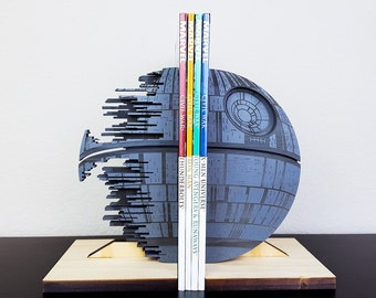 Death Star Bookends, Gray, StarWars, Star Wars, Book Ends