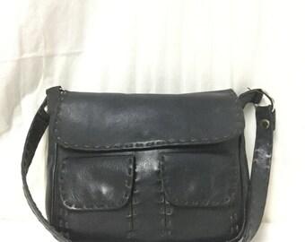 Black Leather purse,bag,bags purses,black, Shoulder Bag