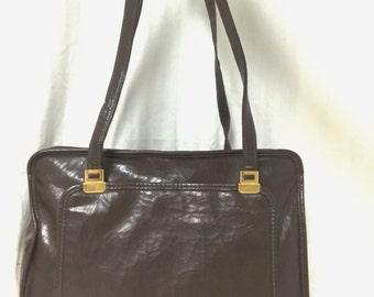Free Ship, Theodore,tote bag,bag purse, Brown ,Tote, Vintage, Shoulder Bag, Purses