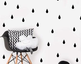 Rain Drop Wall Decals - Rain Drop Decal - Raindrop Wall Stickers - Nursery Wall Decal - Wall Decals - Rain Drop Wall Stickers - Rain Drops