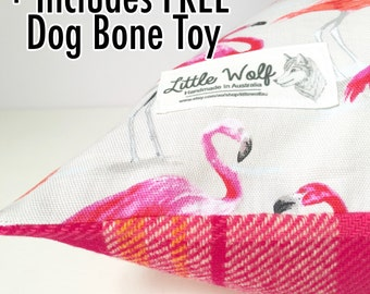 Contemporary Dog Bed Cover, Dog Bed, Reversible Dog Bed Cover, Reversible Dog Bed, Cotton Dog Bed, Pink Wool Dog Bed, Small Dog Bed Cover,
