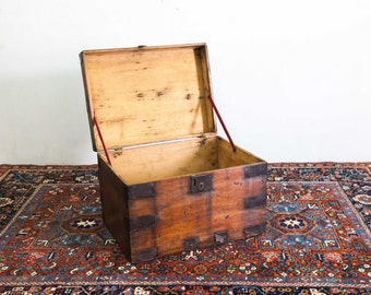 Tin Bound Wooden Storage Box