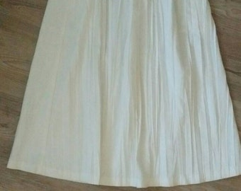 Vintage 80s Judith Michaels LTD  Color Block Cotton Skirt S