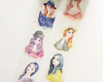 Watercolor Fashionista Washi Tape
