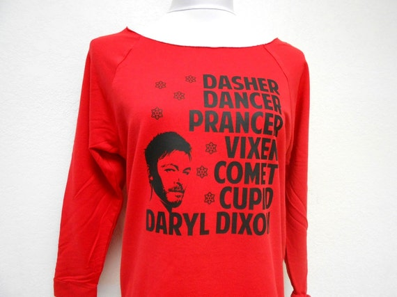 Daryl Dixon Ugly Christmas Sweater. Walking Dead Christmas