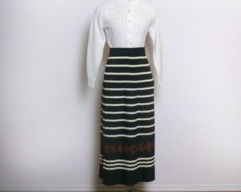 Vintage Pleated Skirt \\ Houndstooth Midi Skirt \\ 80s High Waisted Skirt \\ 90s Highwaisted Maxi Skirt \\ Long Skirt \\ Maxi Skirt S M