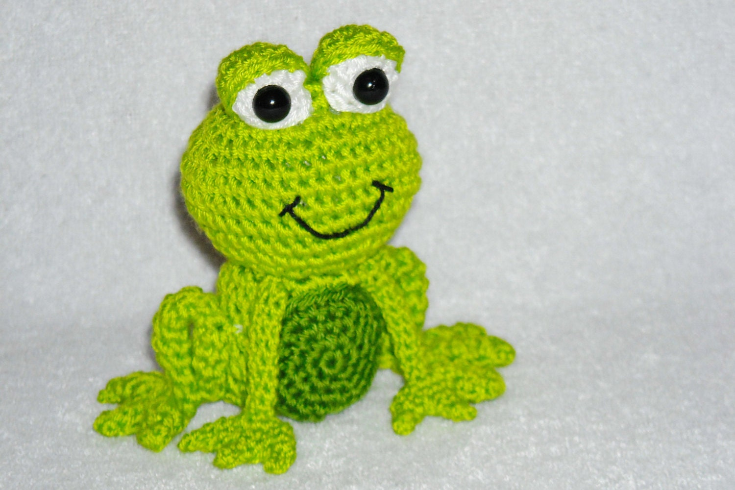 Crochet frog little green frog amigurumi frog by innakozachuk