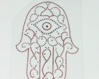 Pink Hamsa Iron on Transfer