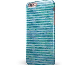 Blue Watercolor Stripes - iNK-Fuzed Hard Case for the Apple iPhone - Samsung Galaxy & More