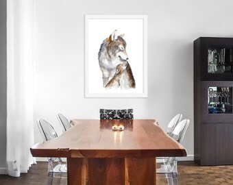 Wolf Painting, Animal Art, Mom And Baby Wolf, Wolf Art, Kids Wall