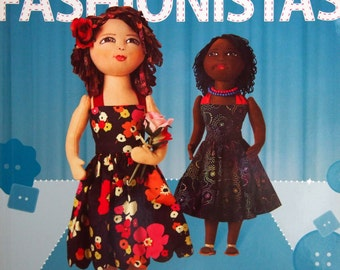 Doll Fashionistas By Ellen Lumpkin Brown Paperback Sewing Book With DVD 2009