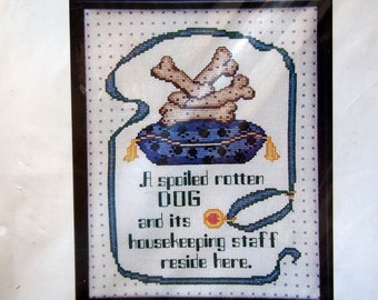 Spoiled Rotten Dog By Patsy Moore And CJ Designs Unopened Cross Stitch Kit 2002