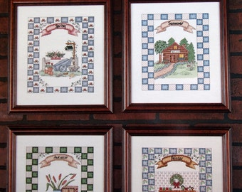 Seasons At Home By Colleen Toupin And The Design Connection Cross Stitch Pattern Leaflet 1997