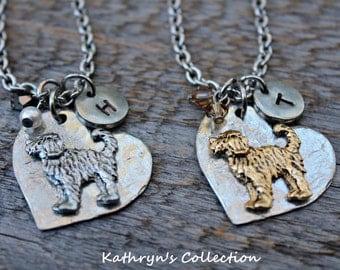 Doodle Necklace, Labradoodle, Golden Doodle, Portuguese Water Dog, Heart Dog Jewelry, Dog Lover Necklace