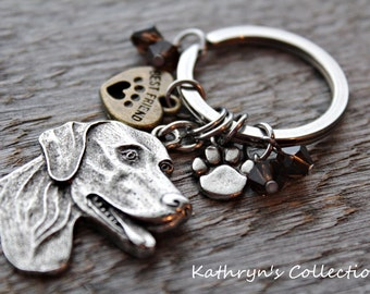 German Shorthaired Pointer Key Chain, German Shorthair Keychain, GSP Key Chain, GSP gift