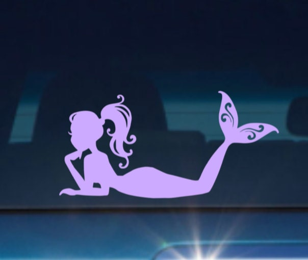 Mermaid Car Decal Mermaid Decal Mermaid Stickers Mermaid
