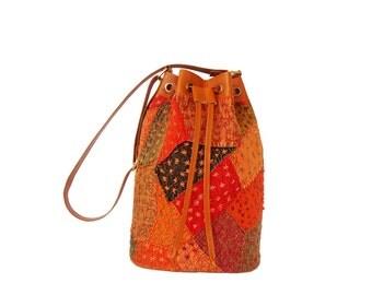 PATCHWORK KANTHA BAGS,Vintage Hip Bag, Shoulder Bag, Kantha Bag, Leather Kantha Bag, Leather Tote Handbag,messenger bags,crossbody bag
