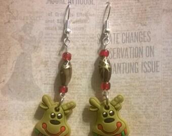 Reindeer Christmas Earrings